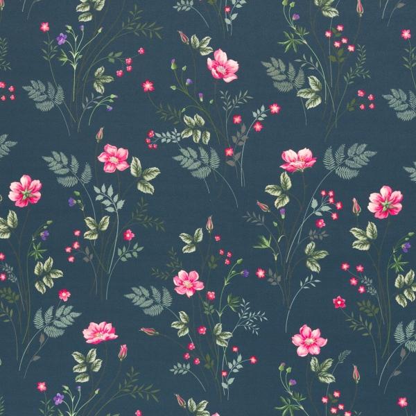 Softshell Fiete - blaue Blumen (Swafing