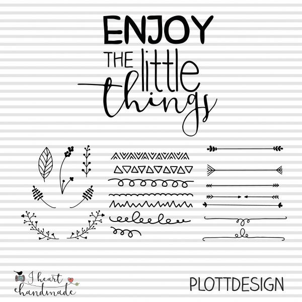 "Plotterdatei ""Enjoy the little things"" Statement"